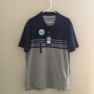 NWT blue and gray polo